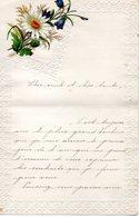 LETTRE ADRESSEE BIEN CHER ONCLE ET TANTE ,TRES BEAU DECORS, VERS 1899. - Manuscrits