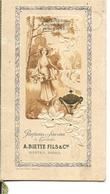 44 - Loire Atlantique - Nantes - 75 - Paris - Savonnerie Parfumerie A.Biette - Avis De Passage Parfumé - Vieux Papiers