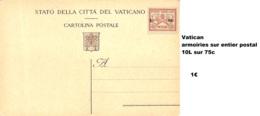 NB - [515126]TB//-Vatican  - Armoiries Sur Entier Postal, 10L Sur 75c, Armoiries - Autres