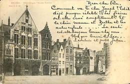 CPA - Belgique - Brugge - Bruges - Bibliothèque, L'Ancien Tonlieu - Damme