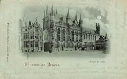 CPA - Belgique - Brugge - Bruges - L'Hôtel De Ville - Damme