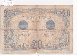 Billet De 20 Francs Bleu Du 13 Décembre 1912 - Z.3438 Alph 493 @ N° Fayette : 10.2 - 1871-1952 Circulated During XXth