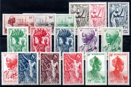 GUADELOUPE - YT N° 197 à 213 - Neufs* - MH - Cote: 26,50 € - Guadeloupe (1884-1947)