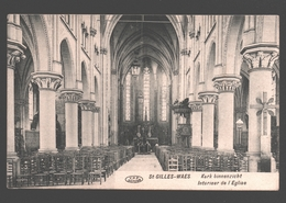 Sint-Gillis-Waas / St-Gilles-Waes - Kerk Binnenzicht - 1919 - Sint-Gillis-Waas