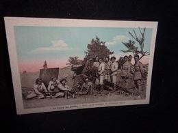 Aveyron. TIRAGE ORIGINAL . Le Camp Du Larzac.Canon. Pièce 75 De Montagne De L' Infanterie Alpine .Voir 2 Scans . - Altri Comuni