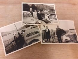 DEUTSCHE FAMILIE DAZUMAL - NEBEN OLDTIMER AN LAND - MIT OLDTIMER AUF DEM SEE - FAEHRE - 20/30er - Automobile