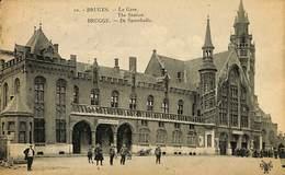 CPA - Belgique - Brugge - Bruges - La Gare - Damme