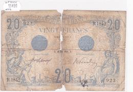 Billet De 20 Francs Bleu Du 20 Mai 1912 - R.1842 Alph 923 @ N° Fayette : 10.2 - 20 F 1905-1913 ''Bleu''