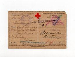 !!! CARTE CROIX ROUGE REPONSE POUR UN PRISONNIER DE GUERRE AUTRICHIEN EN SIBERIE, CENSURES RUSSE & AUTRICHIENNE - Guerre De 1914-18