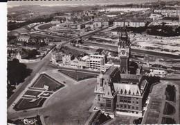 CPSM CALAIS L' HOTEL DE VILLE CALAIS NORD VUE AERIENNE - Calais