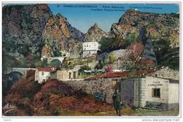 Carte Postale Douanes  Douaniers Frontière Franco Italienne à Grimaldi Vintimiglia Trés Beau Plan - Dogana