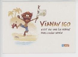 """Nob - Bruno Chevrier """"Via Navigo N'est Pas Une Ile Perdue Dans L'océan Indien (Robinson Crusoé) Ile De France - Bandes Dessinées"""
