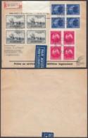 Belgique- Lettre COB 748+750 En Bloc De 4 Recom. Par Avion De Bruxelles 10/06/1947 Vers Argentine (BE) DC6587 - Other