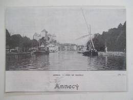 Année(1924) ANNECY  - Navire De Commmerce Fluvial à Quai   - Ancienne Coupure De Presse - Documents Historiques