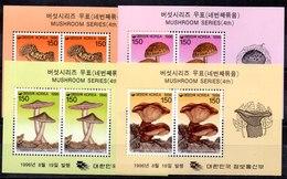 Corea Del Sur Hoja Bloque N ºYvert 477/80 ** SETAS (MUSHROOMS) - Corea Del Sur