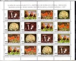República De Guinea Ecuatorial Minipliego Completa N ºYvert 350/53 ** SETAS (MUSHROOMS) - Equatorial Guinea