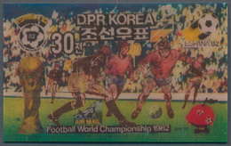 Thematik: Sport-Fußball / Sport-soccer, Football: 1981, Football World Cup 1982, North Korea Investm - Ohne Zuordnung