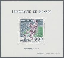 Thematik: Sport-Fußball / Sport-soccer, Football: 1992, MONACO: Olympic Games Barcelona 1992 (Soccer - Ohne Zuordnung