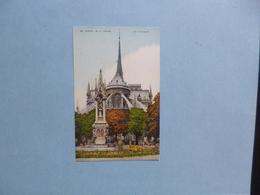 PARIS  -  75  -  Notre Dame  -  L'Abside Et La Fontaine - Notre Dame De Paris