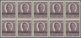 "Rumänien: 1918, Austrian Field Post, Not Issued ""Emperor Carol I."" With Overprint ""BANI"", Set Of Twe - Ungebraucht"