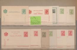 Rumänien - Ganzsachen: 1878-1956: THE ENTIRE COLLECTION OF THE UPU SAMPLES OF ROMANIAN POSTAL STATIO - Ganzsachen