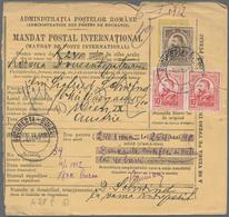 Rumänien - Ganzsachen: 1912 - 1969 (ca.), Collection Items Of Postal Money Order Postal Stationery F - Ganzsachen