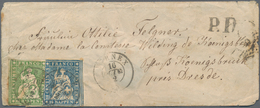 Nachlässe: Originär Belassener Briefe-Nachlass Mit Ca. 130 Belegen, Dabei U.a. NDP 4-Farben-Frankatu - Briefmarken