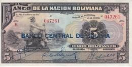 BILLETE DE BOLIVIA DE 5 BOLIVIANOS DEL AÑO 1911 SERIE R EN CALIDAD EBC (XF) (BANKNOTE) - Bolivië
