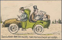 Ansichtskarten: KARTONS, 2 Große Kartons Mit Zahlreichen Alten Postkartenalben, Fotoalben, Werbepros - Ansichtskarten