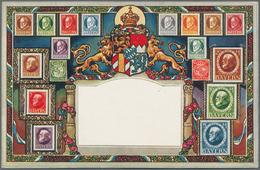 Ansichtskarten: ALBUM, Kleines Postkarten-Album Mit über 60 Historischen Ansichtskarten, Ganzsachen - Ansichtskarten