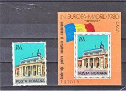 ROUMANIE 1980 EUROPE CSCE Michel 3745 + BF 174 NEUF** MNH - 1948-.... Républiques