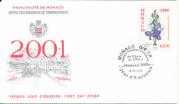 Monaco FDC 2-12-2000 International Flower Arranging Competition With Cachet - FDC