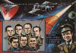 Guinea Equatoriale 1972 Bf. 52B Conquista Spazio J. Gagarin Grissom White... Sheet Imperf. CTO - FDC & Commemorrativi