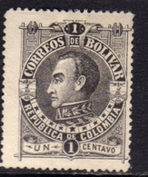 COLOMBIA BOLIVAR 1891 CENT. 1c MH - Colombia