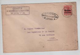 REF254/ TP Oc 3 S/L.Comité De Secours Herve Càp Herve 8/3/1916 Censure Lüttich > Liège Orphelins Guerre - [OC1/25] Gouv. Gén.