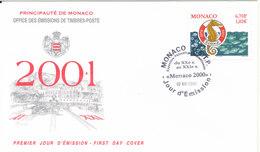 Monaco FDC 2-12-2000 Saint Raphäel Coastal Water Protection With Cachet - FDC