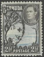 Bermuda. 1938-52 KGVI. 2½d Used. Pale Blue And Sepia-Black. SG 113b - Bermuda