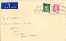 POSTAGE REVENUE RICKMANSWORLH 1956 AIR MAIL ANNULLO SPECIALE COVER   (FEB200370) - 1952-.... (Elizabeth II)