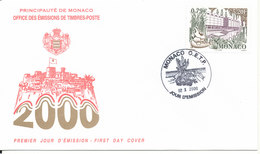 Monaco FDC 2-10-2000 Anthropological Museum With Cachet - FDC