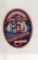 87 - SAINT YRIEIX LA PERCHE-ST YRIEIX- RARE ETIQUETTE BRASSERIE G.C. HOLDERER GRANDE CONSERVE - Levensmiddelen