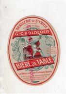 87 - SAINT YRIEIX LA PERCHE-ST YRIEIX- RARE ETIQUETTE BRASSERIE G.C. HOLDERER BIERE DE TABLE - Alimentaire