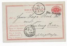 Schweden 1883 - Ganzsache Mit Schiffspost - Stempel - Covers & Documents