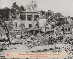 Photo  Champrosay ( S Et O) Le Sanatorium Bombardé.  Agence Rvd - 1939-45