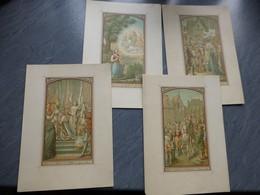Jeanne D'Arc, Lot De 4 Superbes Chromos XIXème Originaux, Grand Format ; GR01 - Estampes & Gravures