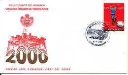 Monaco FDC 19-6-2000 Golf Tournament With Cachet - FDC