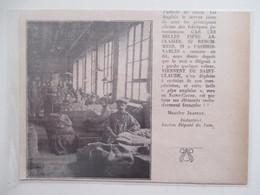 Année(1925) SAINT CLAUDE (Jura) MANUFACTURE Des PIPES Atelier  - Ancienne Coupure De Presse - Bruyerepfeifen