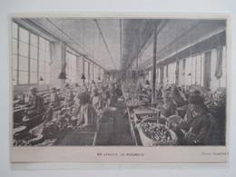 Année(1925) SAINT CLAUDE (Jura) MANUFACTURE Des PIPES  - Atelier Pollisage  - Ancienne Coupure De Presse - Bruyerepfeifen