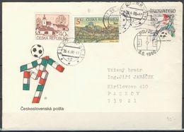 Tchéque République Lettre Avec Publicité Affr Mi 71+243 + Tchécoslovaquie Mi 3049 - Lettres & Documents