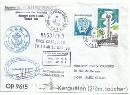 YT 205 - Station De Pointe Bénédicte - Chimie De L'atmosphère - Posté à Bord  Du MD - Kerguelen - 23/11/1996 - Terre Australi E Antartiche Francesi (TAAF)