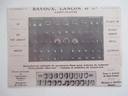 Année(1925) SAINT CLAUDE (Jura) ARTICLES Pour PIPES Bagues  Ets  BAVOUX LANCON & Cie - Ancienne Coupure De Presse - Bruyerepfeifen